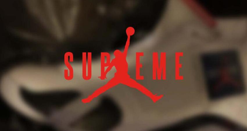 First Look At The Supreme x Air Jordan 14 01