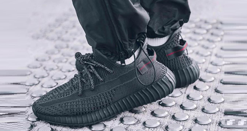 dc044f3da0c03 First On Foot Look Of Yeezy Boost 350 V2 Black – Fastsole