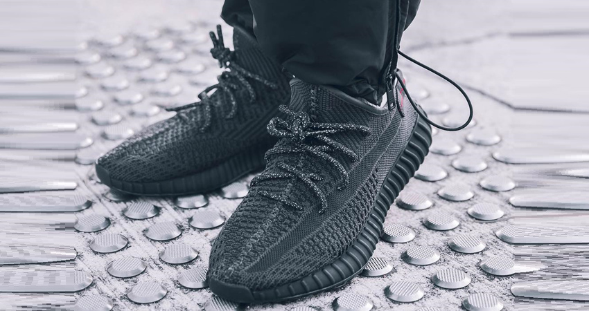 First On Foot Look Of Yeezy Boost 350 V2 Black 02