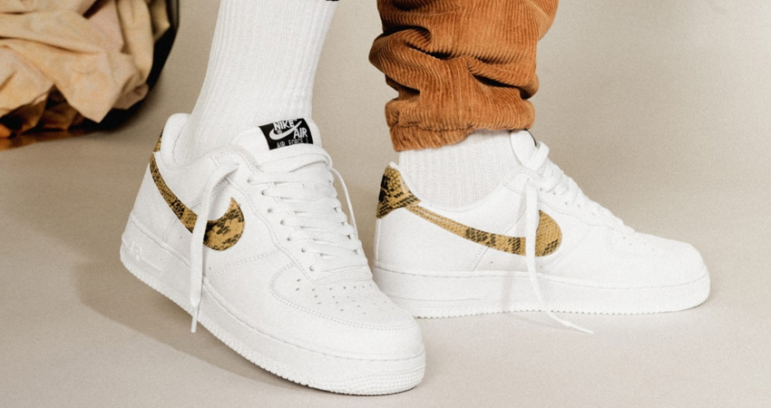 Nike Air Force 1 Is Releasing With An 'Ivory Snake' Getup 02