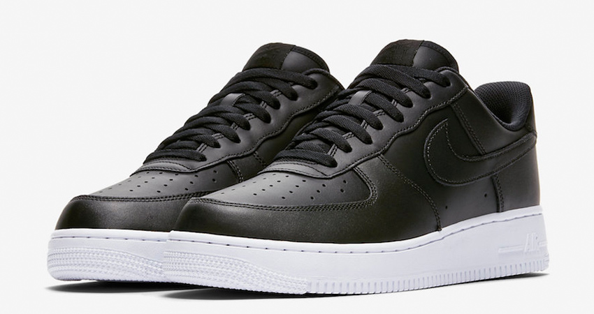 Nike Air Force 1 Low Coming With A Black Leather Shiny Look 01
