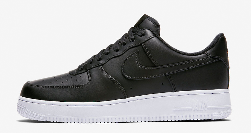 Nike Air Force 1 Low Coming With A Black Leather Shiny Look 02