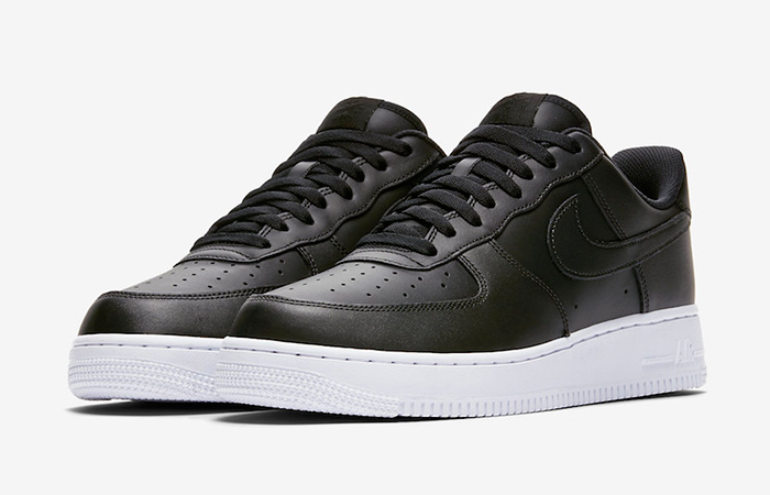 Nike Air Force 1 Low Coming With A Black Leather Shiny Look ft
