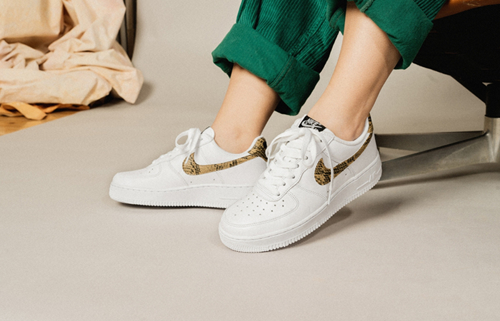 Nike Air Force 1 Low Premium QS Ivory Snake AO1635-100 02