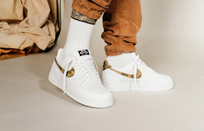 Nike Air Force 1 Low Premium QS Ivory Snake AO1635-100 03