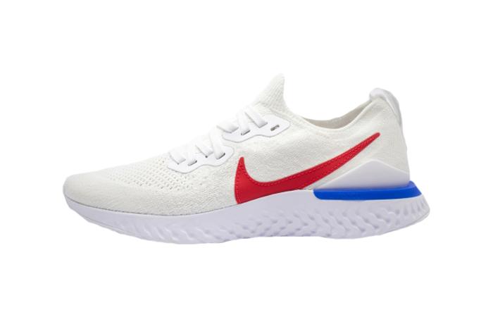 Nike Epic React Flyknit 2 White Red CJ8295-100 01