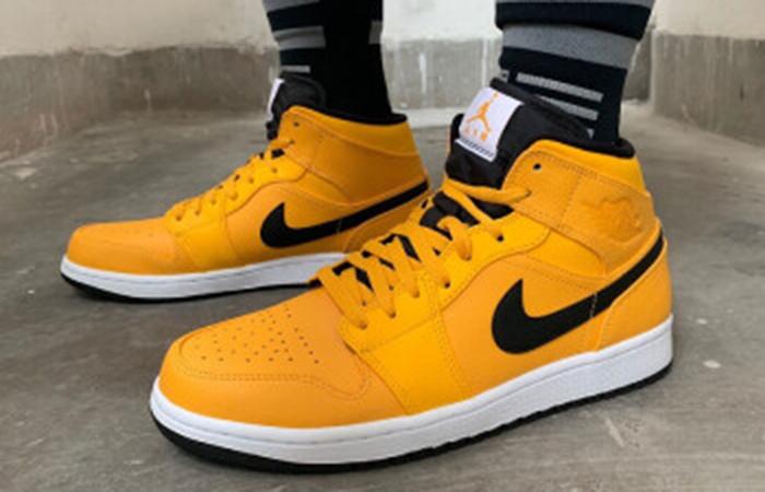 sports shoes 15d94 765d3 Nike Jordan 1 Mid Gold Black 554724-700