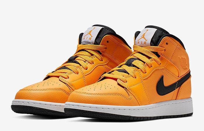 Nike Jordan 1 Mid Gold Black 554724-700