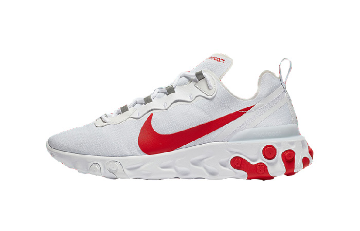 Nike React Element 55 White Red BQ6167-102 01