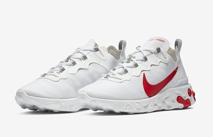 Nike React Element 55 White Red BQ6167-102 02