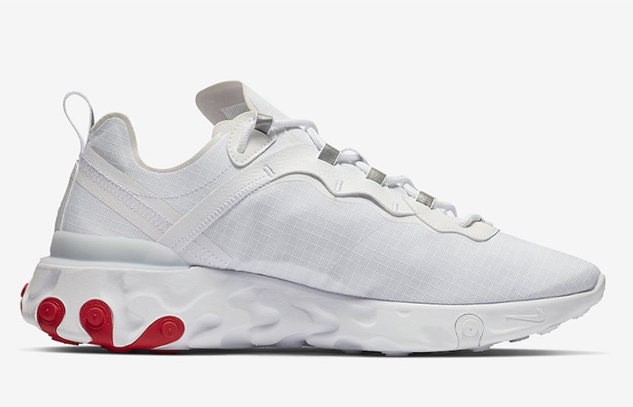 on sale e2393 e7468 ... Nike React Element 55 White Red BQ6167-102 03 ...