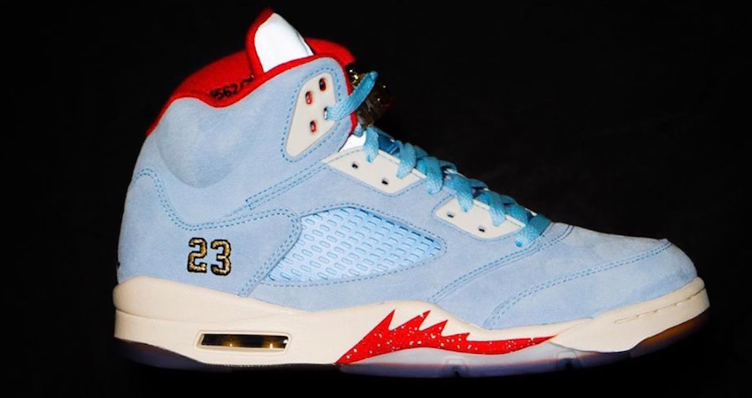 """744e57be5b On Feet Look At The Trophy Room Air Jordan 5 """"University Red"""" – Fastsole"""