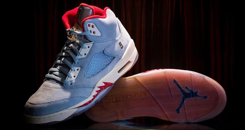 "On Feet Look At The Trophy Room Air Jordan 5 ""University Red"" 02"