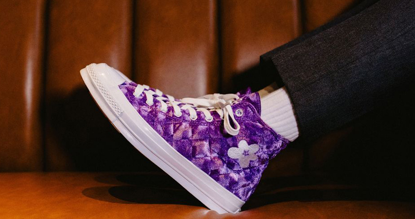On-Feet Look Of Converse GOLF le FLEUR Chuck 70 Hi Velvet Pack 05