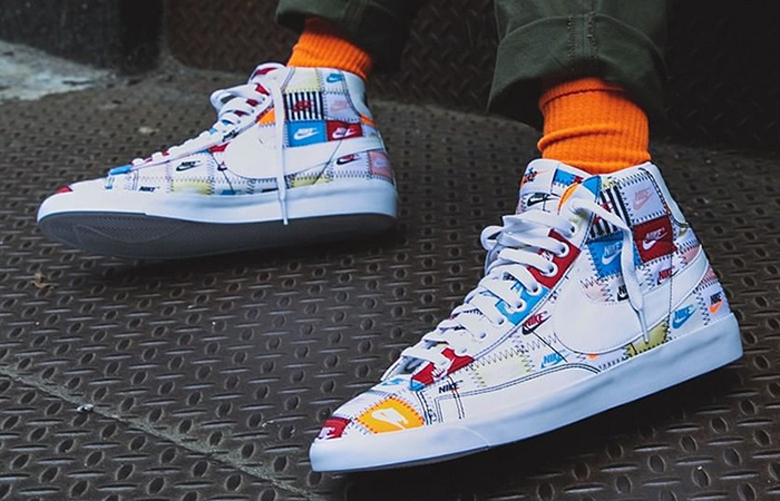 "On Foot Look At Nike Blazer High ""Patchwork"" ft"