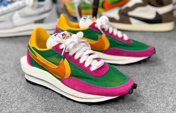 Sacai Nike LDV Waffle Green Pink BV0073-301 02