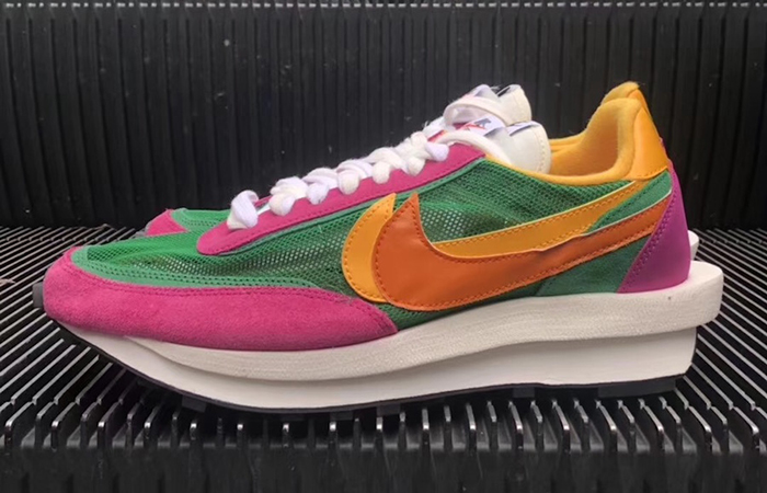 pretty nice 4ed7f 40d1c ... Sacai Nike LDV Waffle Green Pink BV0073-301 02