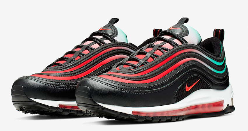 7435eae121dc2 The New Nike Air Max 97s Is Coming With A Charming Alternative Of Neon  Seoul 01. The shoe is painted in Ember Glow, Black, White ...