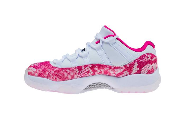 Womens Air Jordan 11 Low Pink Snakeskin AH7860-106 01