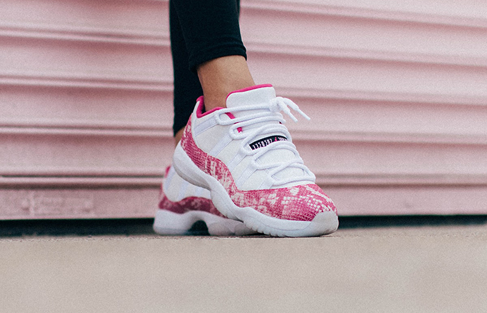 Womens Air Jordan 11 Low Pink Snakeskin AH7860-106 03