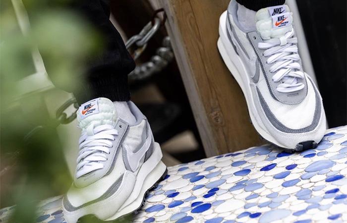 sacai Nike LDV Waffle Wolf Grey BV0073-100 on foot 02