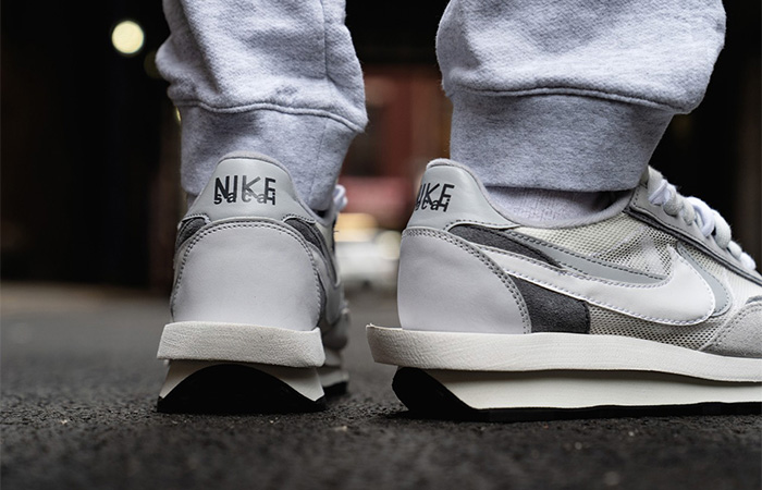 sacai Nike LDV Waffle Wolf Grey BV0073-100 on foot 03