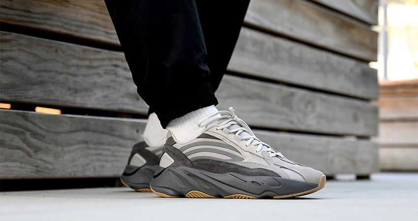 A Complete Store and Raffle List Of adidas Yeezy Boost 700 V2 Tephra on foot