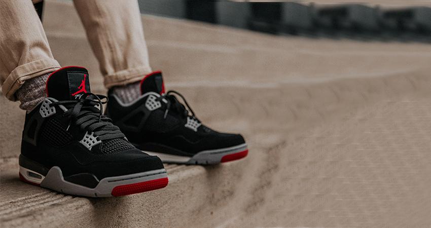 Air Jordan 4 OG Bred 19 Black Red 308497-060