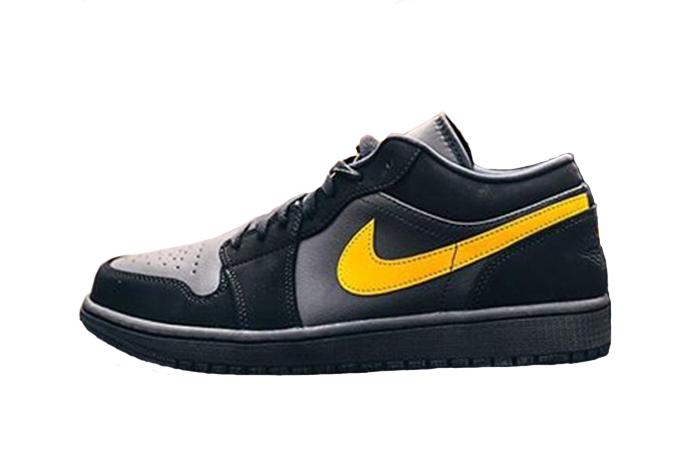 Footasylum Exclusive Jordan 1 Low Black Yellow 01