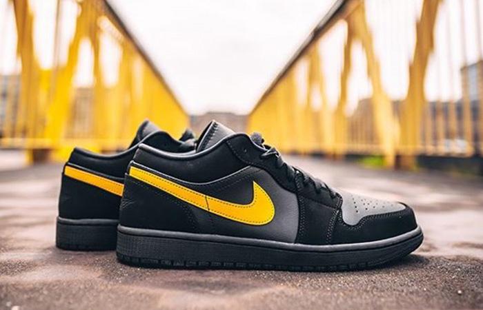 Footasylum Exclusive Jordan 1 Low Black Yellow 02