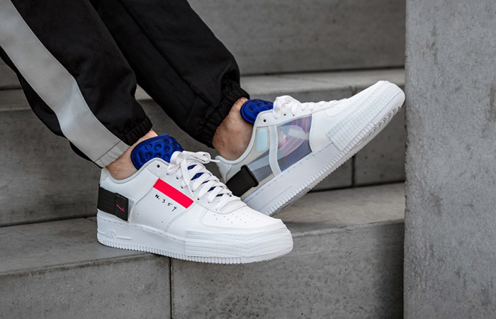Nike Air Force 1 Low Type White CI0054-100 on foot 01