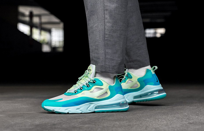 Nike Air Max 270 React Blue Mint AO4971-301 on foot 01