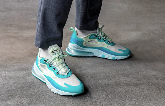 Nike Air Max 270 React Blue Mint AO4971-301 on foot 02