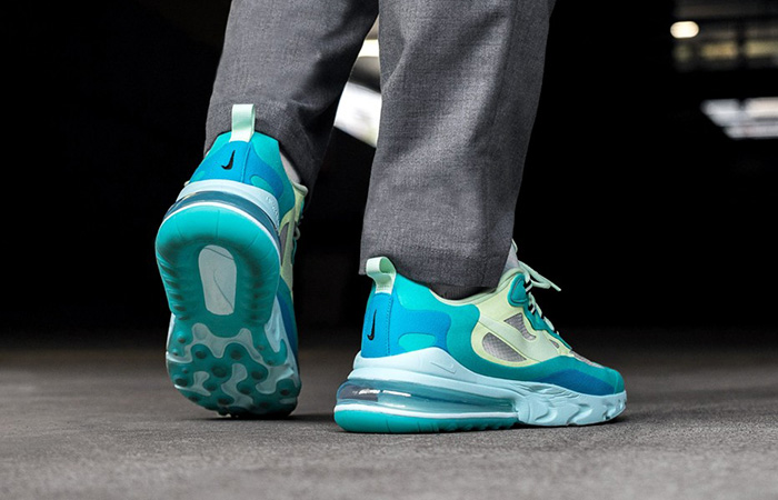 Nike Air Max 270 React Blue Mint AO4971-301 on foot 03