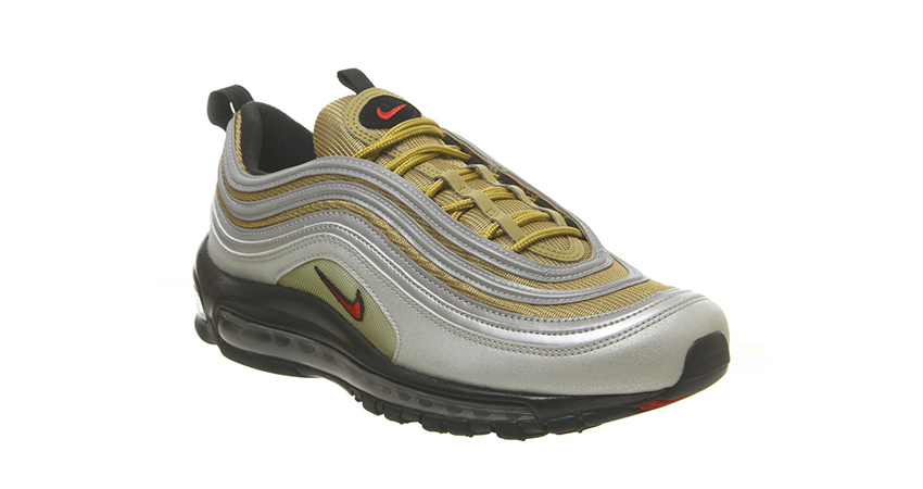 Nike Air Max 97 Trainers Silver Gold Black