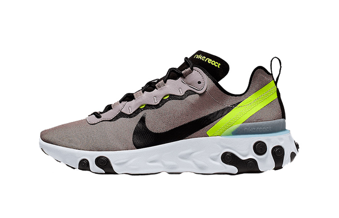 Nike React Element 55 Pumice Volt BQ6166-201 01