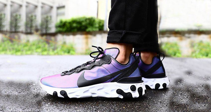 Nike React Element 55 Purple Black BQ9241-002