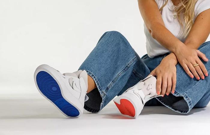 Nike Womens Air Force 1 White BQ3611-100 on foot 02
