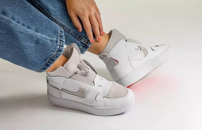 Nike Womens Air Force 1 White BQ3611-100 on foot 03