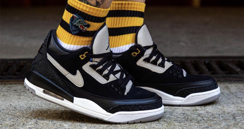 timeless design d79ed 9a3f7 On Feet Look At The Air Jordan 3 Tinker Black Cement – Fastsole