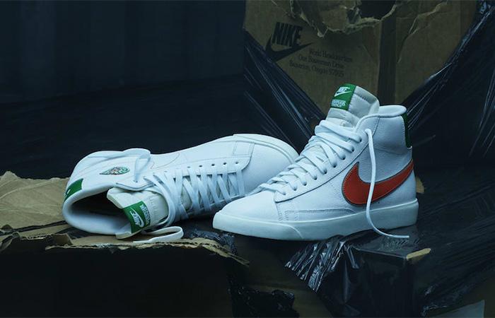 """Stranger Things Nike Blazer Mid """"Hawkins High"""" CJ6101-100 02"""