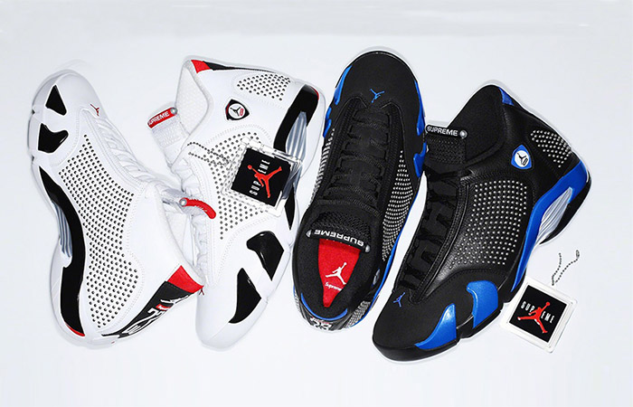 Supreme Air Jordan 14 Is Coming In Both Light And Dark Colourways! ft