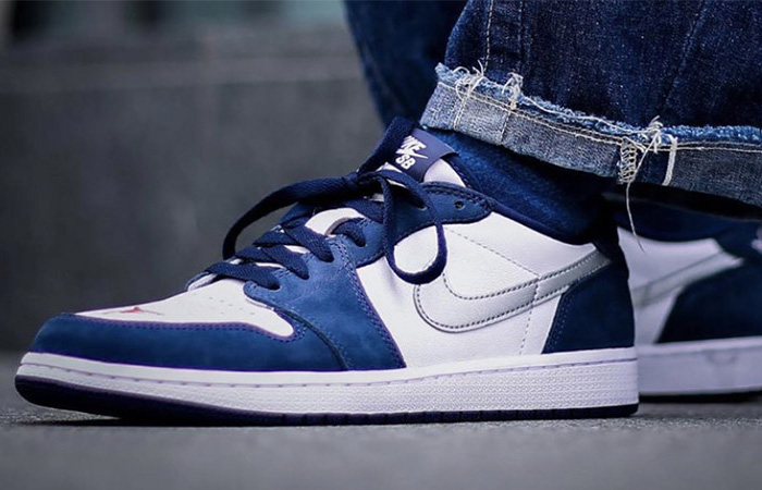 The Nike SB Air Jordan 1 Low Midnight Navy Finallyn Leaked Their On Foot ft