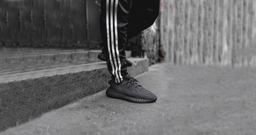 The adidas Yeezy 350 V2 Core Black