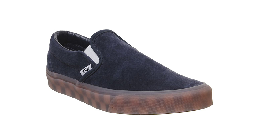 Vans Vans Classic Slip On Trainers Parisian Night Checker Ice Sole