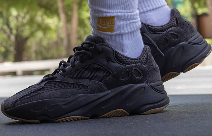 Yeezy Boost 700 Utility Black on foot 03