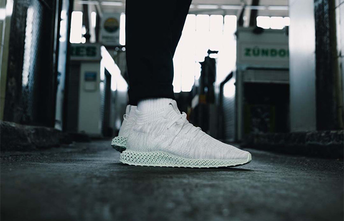 adidas Runner Mid 4D White EE4116 on foot 01