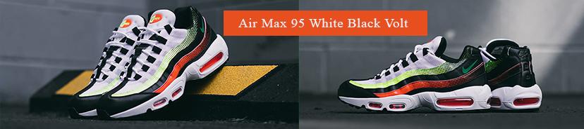 Air Max 95 White Black Volt