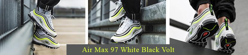 Air Max 97 White Black Volt