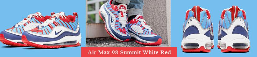 Air Max 98 Summit White Red